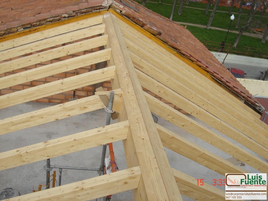 Estructuras de madera carpinter a luis fuente burgos - Estructuras de madera para tejados ...